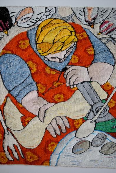 Pasta al Uovo (materials: linen, cotton, wool; size: 48x50cm)
