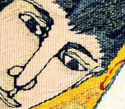 Sherbet Lemons, Sour Plooms (detail; materials: linen, cotton, wool; size: 80x165cm)